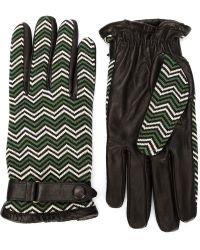 Orley - Chevron Pattern Gloves - Lyst