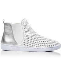 Atelje71 High Top Sneakers - Ovidius Perforated - White