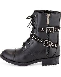 Elie Tahari - Faux-Leather Moto Boots - Lyst