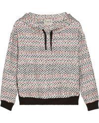 Sea Lace-trimmed Cotton-blend Tweed Hooded Sweatshirt - Lyst