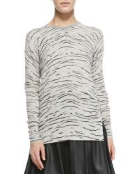 Rebecca Taylor Knit Tigerprint Long Pullover - Lyst