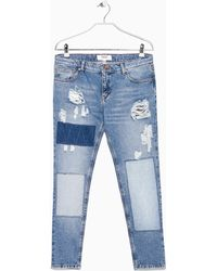 Mango Slim-Fit Nancy Jeans - Lyst