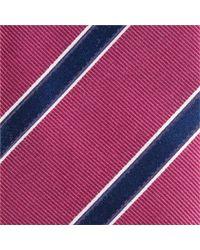 John Lewis - Colour Base Stripe Silk Tie - Lyst