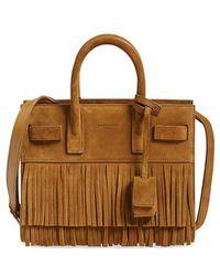 vogue replica handbags - sac de jour pebbled leather nano satchel bag, black
