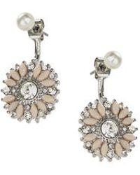 Topshop Flower Earrings beige - Lyst