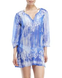 Spiaggia Dolce - Embroidered Tie-Dye Cover-Up - Lyst