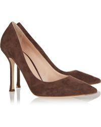 Sergio Rossi Secret Suede Pumps - Lyst