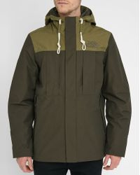 The North Face | Khaki/green Himalayan Pr Lined Down Jacket | Lyst