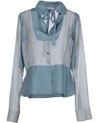 Antonio Berardi Shirt blue - Lyst