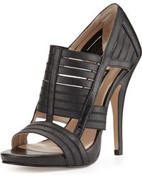 French Connection Devlin Leather And Elastic Platform Pump - Black