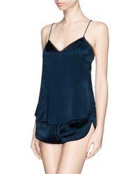 Kiki de Montparnasse 'Amour' Silk Charmeuse Backless Camisole - Lyst