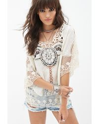 Forever 21 Crocheted Woven Top - Lyst