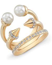 Vita Fede Ultra Mini Crystal Titan Ring gold - Lyst