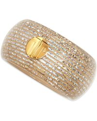 Lanvin - White Bangle with Woven Finish - Lyst