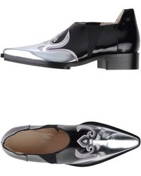 Paco Rabanne Bi-Colored Leather Moccasins - Black