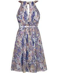 Matthew Williamson Blossom Snake Short Dress - Lyst