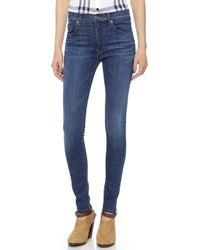 Hudson Barbara High Waist Super Skinny Jeans - Lyst
