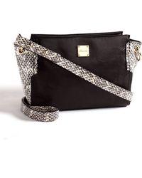 Kenneth Cole Interlock Leather Trapeze Crossbody Bag