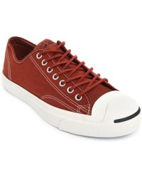 Converse X John Varvatos Jack Purcell Cross Stitch Canvas In Brown - Lyst