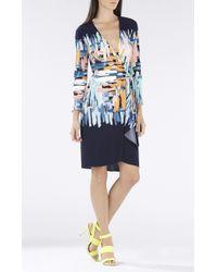BCBGMAXAZRIA Adele Printed Wrap Dress - Lyst