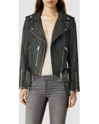 AllSaints Balfern Leather Biker Jacket - Lyst