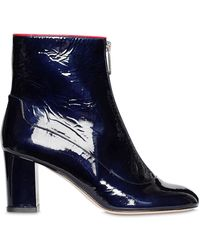 Camilla Elphick 75mm Zip Me Up Patent Leather Boots - Blue