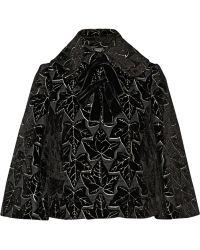 Alexander McQueen Flocked Woven Silk-blend Jacket - Lyst