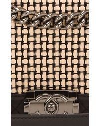 Madison Avenue Couture Tweed Limited Edition Quilted Calfskin New Medium Boy Bag - Multicolor