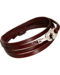 Miansai Leather Bind Wrap Bracelet - Lyst