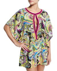 Etro - Paisley-print Keyhole-front Romper - Lyst