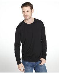 Prada Black Wool Long Sleeve Crewneck Sweater - Lyst