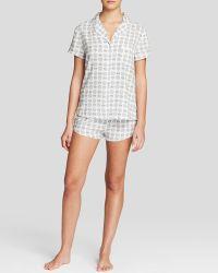 Splendid Intimates Woven Classic Short Pajama Set - Lyst