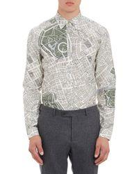 Burberry Prorsum London Map Shirt - Lyst