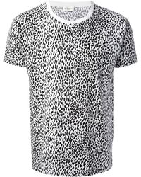 Saint Laurent Black T-shirt Bianconero - Lyst