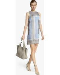 Halston Scarf Print Silk Georgette Dress - Lyst