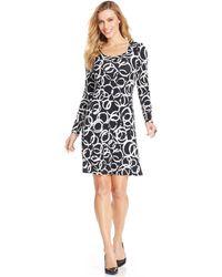 Karen Kane Printed A-line Dress - Lyst