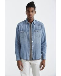 Levi's Washed Chambray Western Button-Down Shirt - Lyst