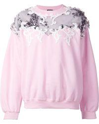 Alexis Mabille - Embellished Cotton-Blend Sweatshirt - Lyst