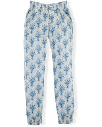 Ralph Lauren Floral Fleece Sweatpant - Lyst