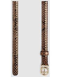 Prada Python Buckle Belt in Beige (roccia beige)   Lyst