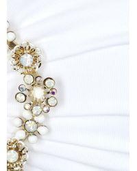 Emamó St Tropez White Embellished Bikini Top