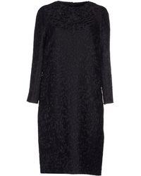 Dries Van Noten Knee-Length Dress black - Lyst