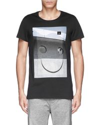 Acne Studios Smile Photograph Print T-Shirt - Lyst