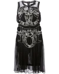 KTZ Embroidered Snake Dress - Lyst