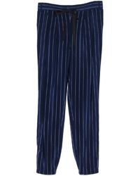 Tibi Washed Silk Striped Track Pants - Lyst