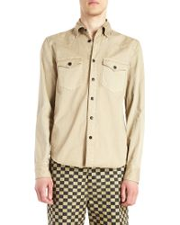 Golden Goose Deluxe Brand Brown Western Shirt - Lyst