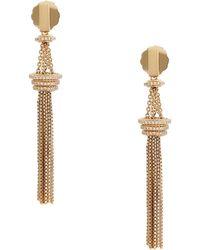 Rachel Zoe 12K Gold Plated Tassel Drop Earrings - Lyst