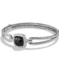 David Yurman Albion Bracelet With Amethyst And Diamonds black - Lyst