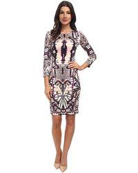 Just Cavalli Long Sleeve Sparrow Dress - Lyst