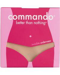 J.Crew Commando® Classic Thong In Nude beige - Lyst